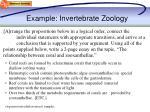 example invertebrate zoology