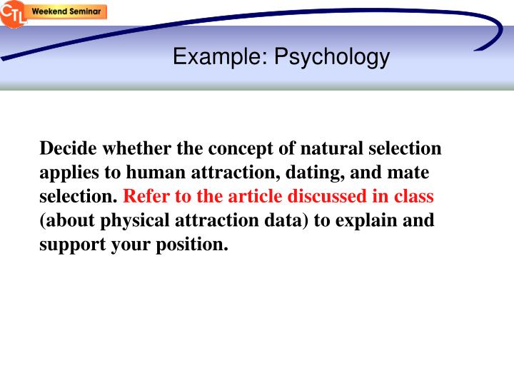 Example: Psychology
