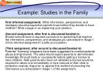 example studies in the family