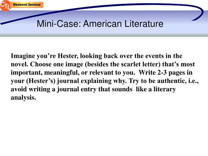 Mini-Case: American Literature