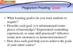plagiarism proofing goals