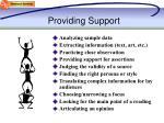 providing support