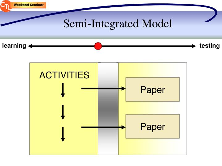 Semi-Integrated Model