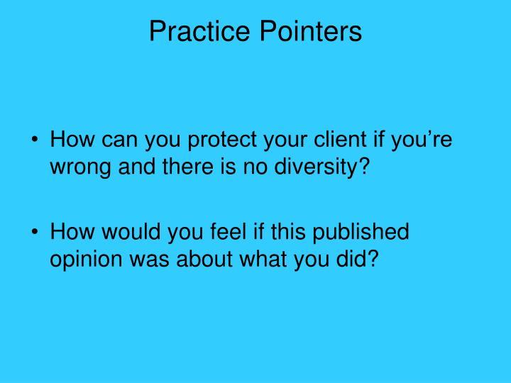 Practice Pointers