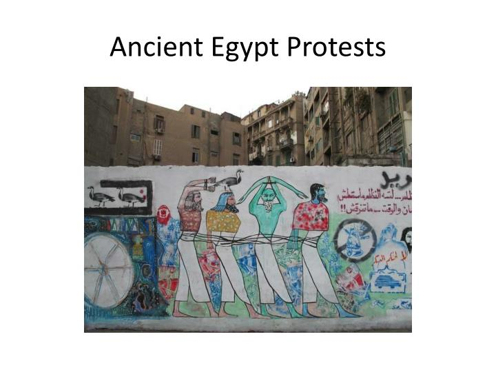 Ancient Egypt Protests