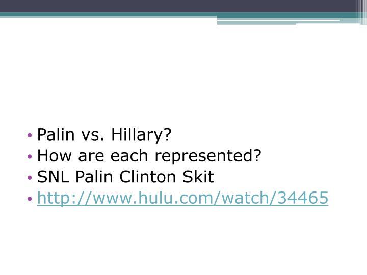 Palin vs. Hillary?
