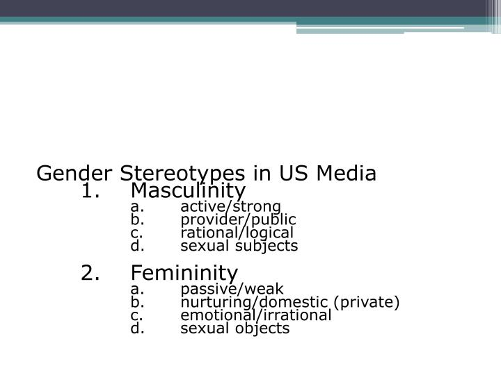 Gender Stereotypes in US Media