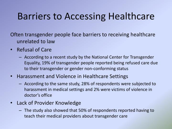 Barriers to Accessing Healthcare