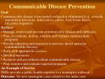 communicable disease prevention