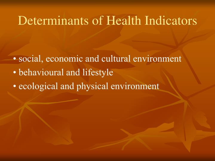 Determinants of Health Indicators