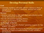 develop personal skills
