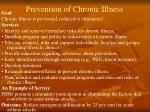 prevention of chronic illness