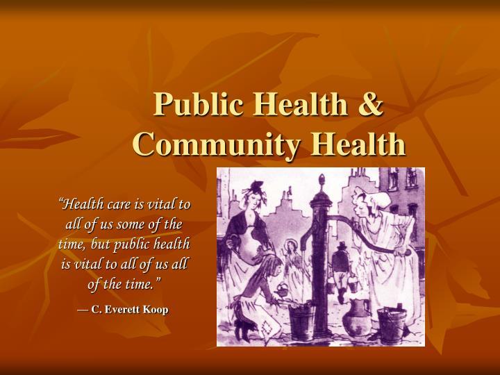 Public Health & Community Health