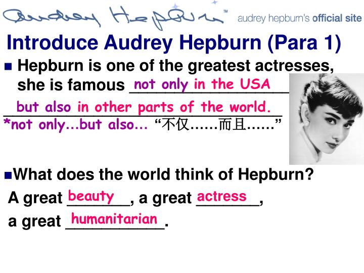 Introduce Audrey Hepburn
