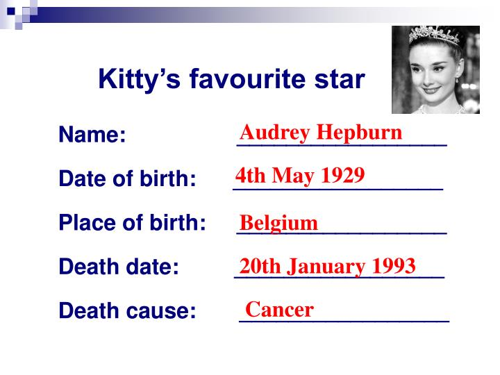 Kitty's favourite star