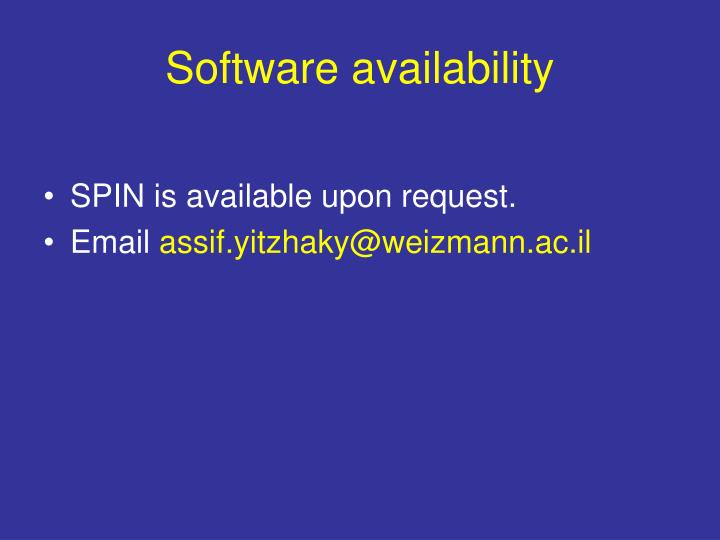 Software availability