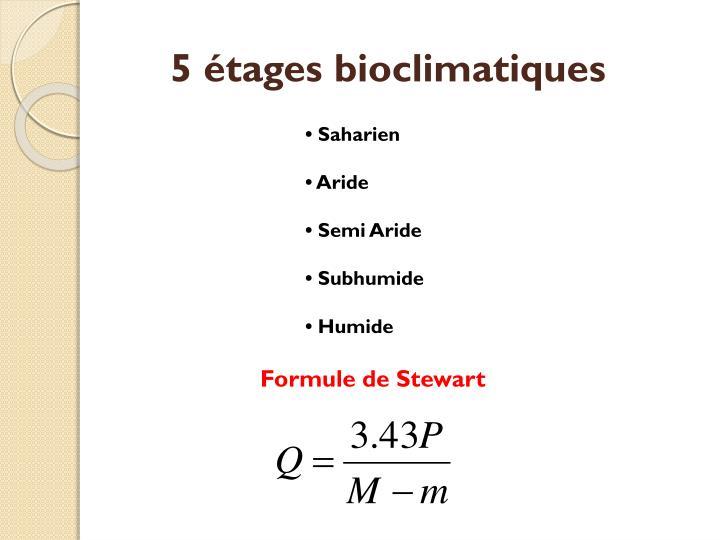5 étages bioclimatiques
