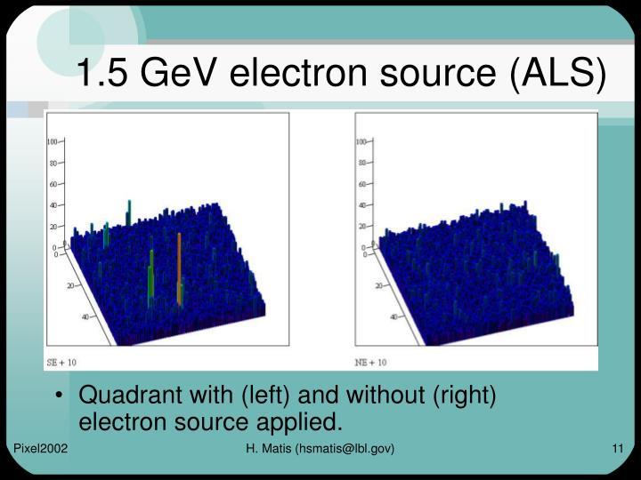 1.5 GeV electron source (ALS)