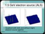 1 5 gev electron source als