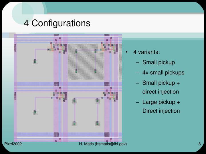 4 Configurations