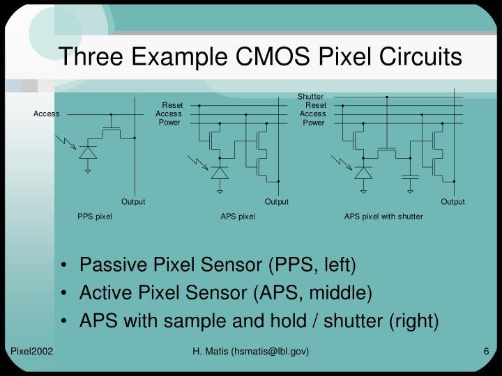 Three Example CMOS Pixel Circuits