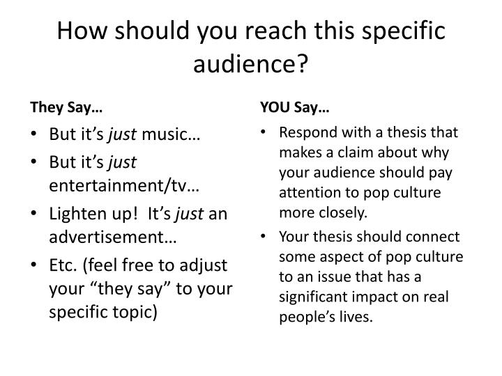 How should you reach this specific audience?