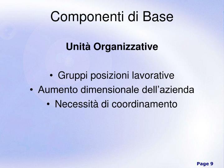 Unità Organizzative
