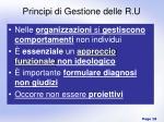 principi di gestione delle r u
