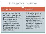 diferencia b learning