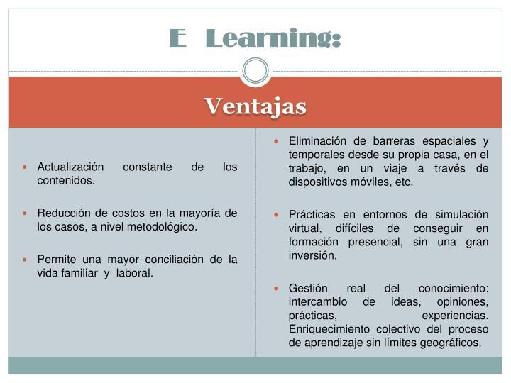 E   Learning: