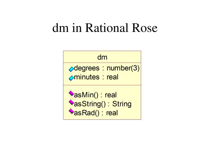 dm in Rational Rose