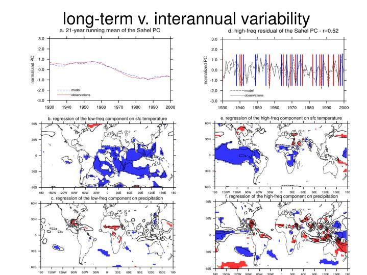 long-term v. interannual variability