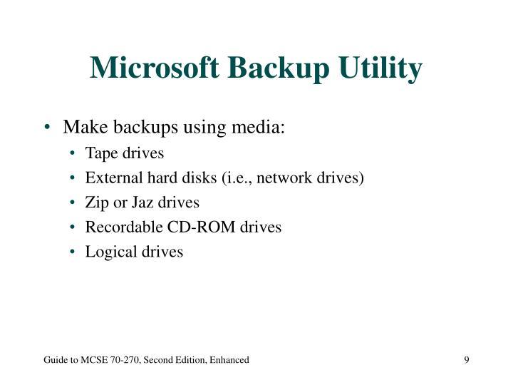 Microsoft Backup Utility