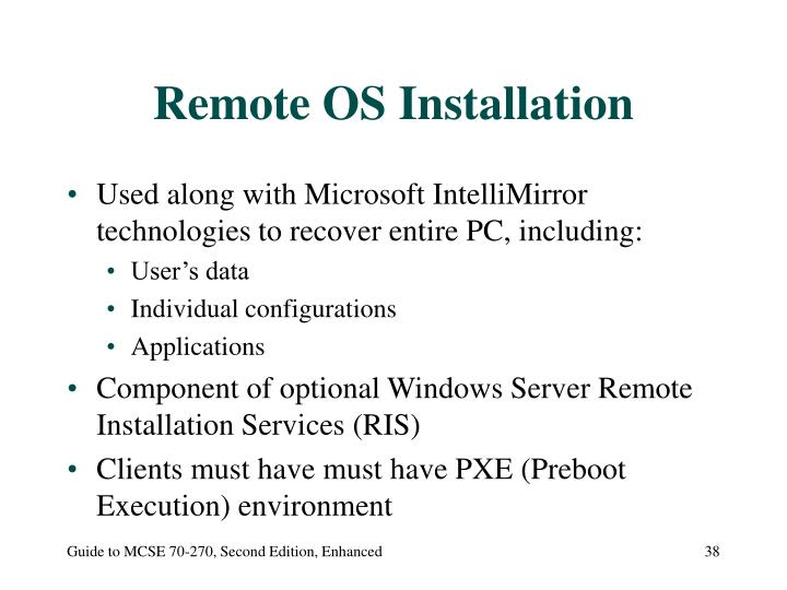 Remote OS Installation