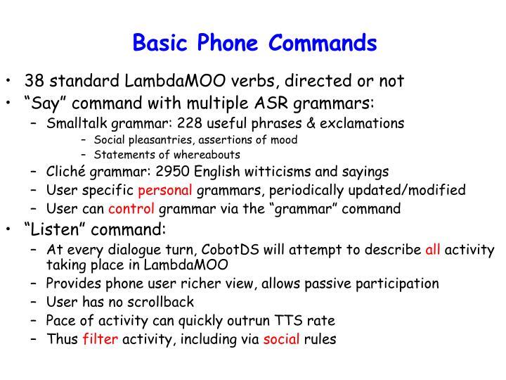 Basic Phone Commands