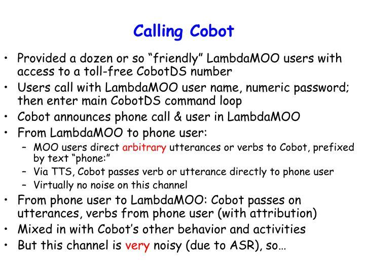 Calling Cobot