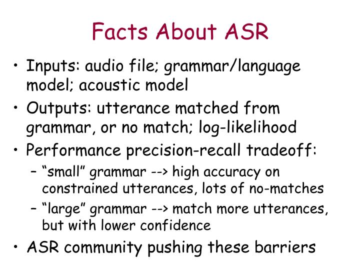 Facts About ASR