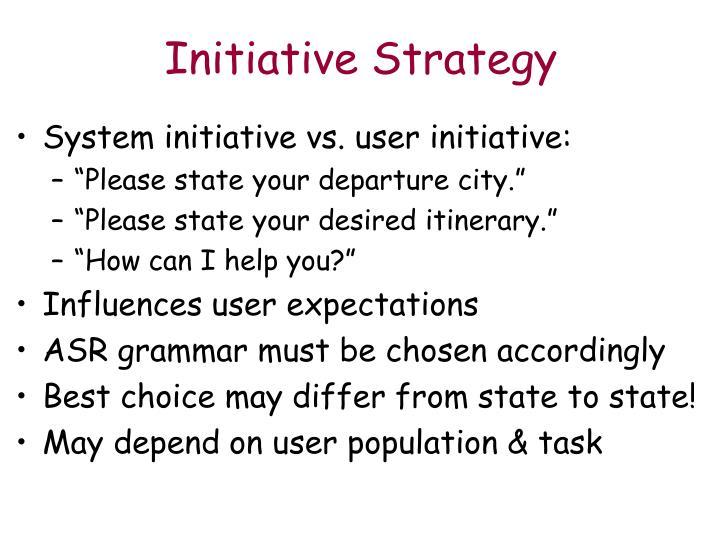 Initiative Strategy