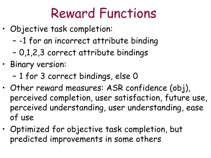 Reward Functions