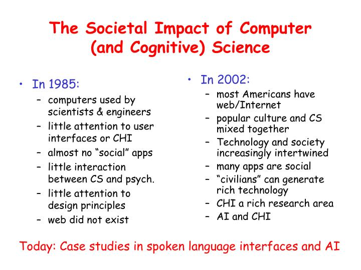 The societal impact of computer and cognitive science