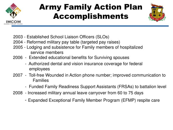 Army family action plan accomplishments1