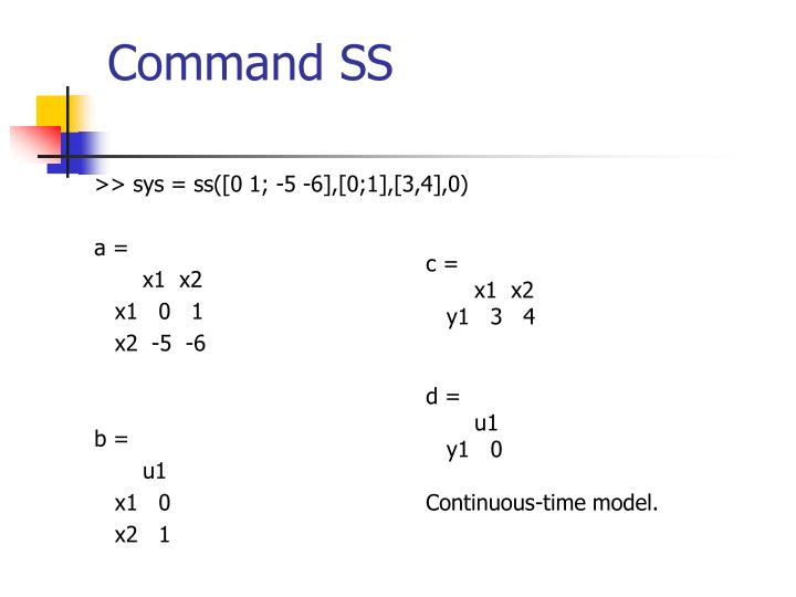 Command SS