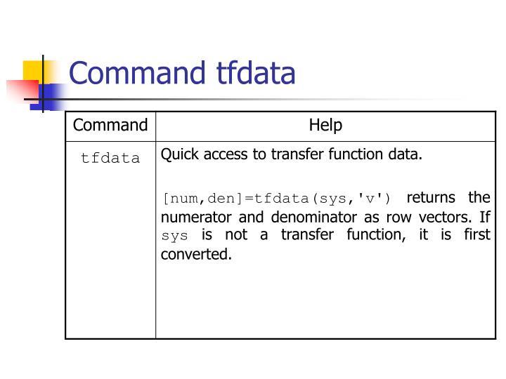 Command tfdata