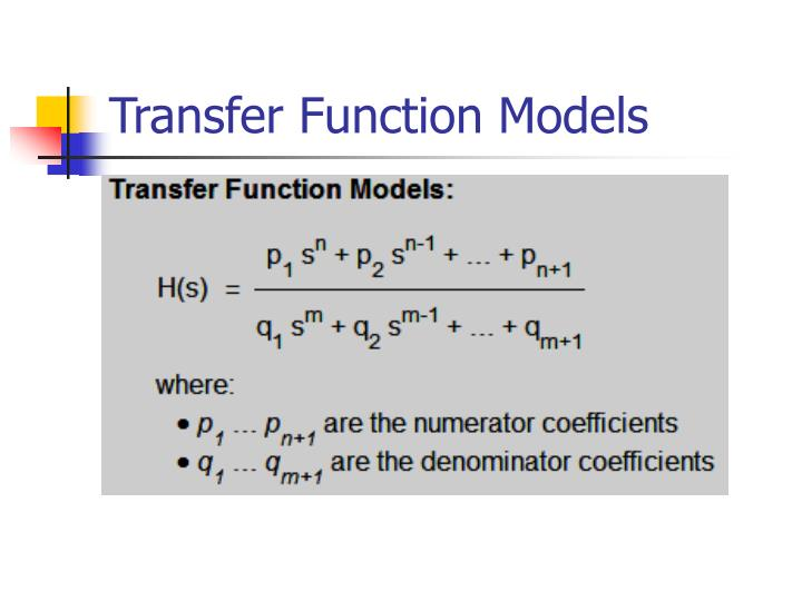 Transfer Function Models