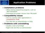 application problems
