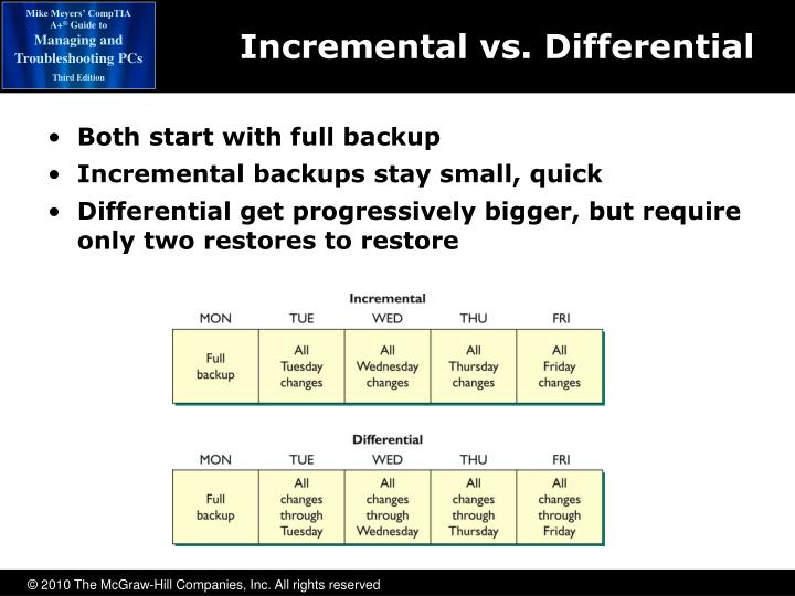 Incremental vs. Differential