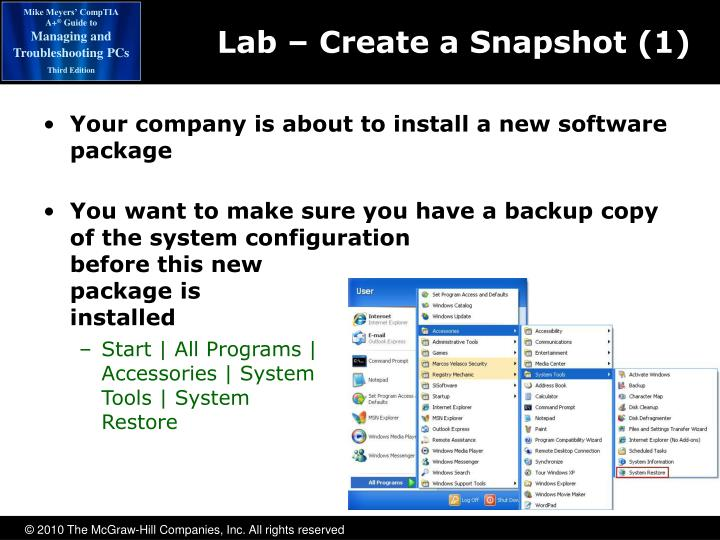 Lab – Create a Snapshot (1)