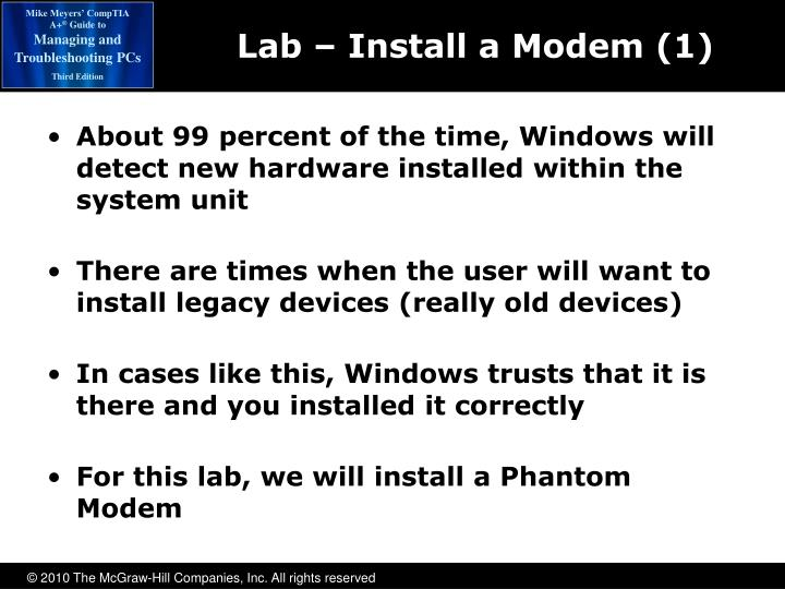Lab – Install a Modem (1)