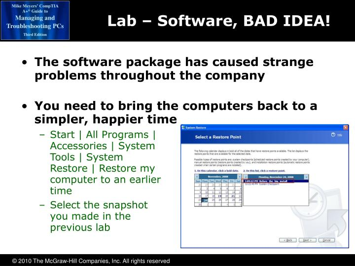 Lab – Software, BAD IDEA!