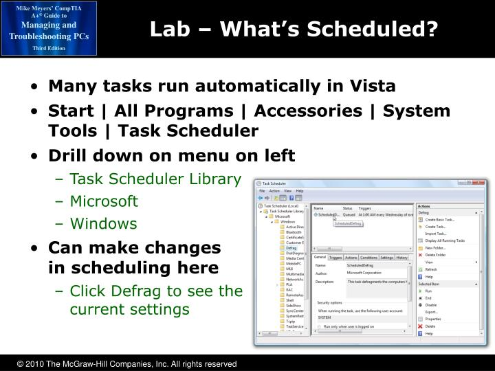 Lab – What's Scheduled?